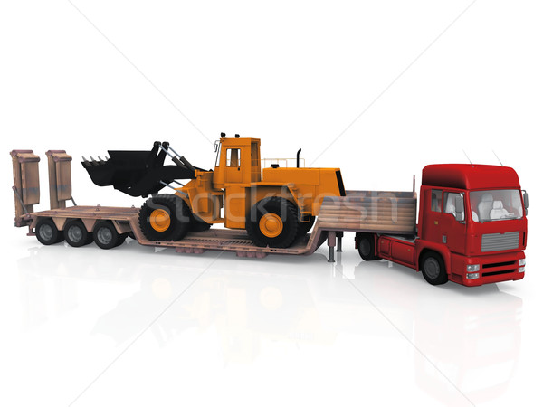 Vervoer vrachtwagen machine witte business weg Stockfoto © njaj