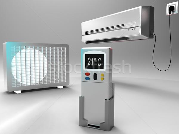 Légkondicionálás építkezés otthon fém erő levegő Stock fotó © njaj