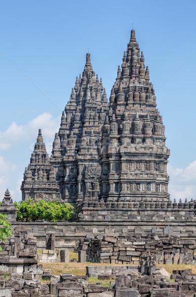 Java Endonezya taş din kültür tapınak Stok fotoğraf © njaj