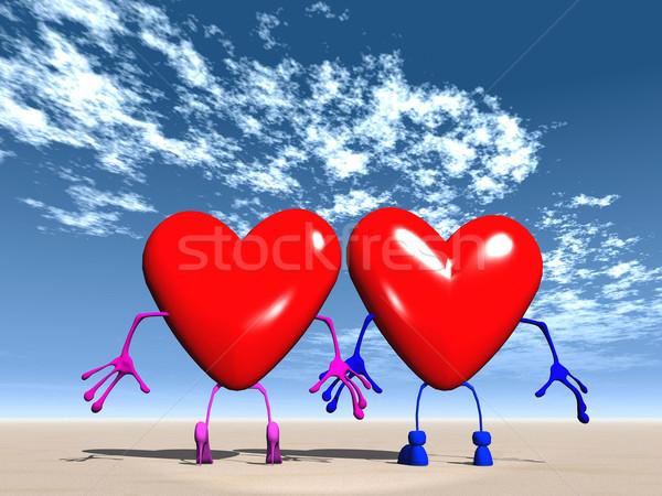 Mr. and Mrs. love Stock photo © njaj