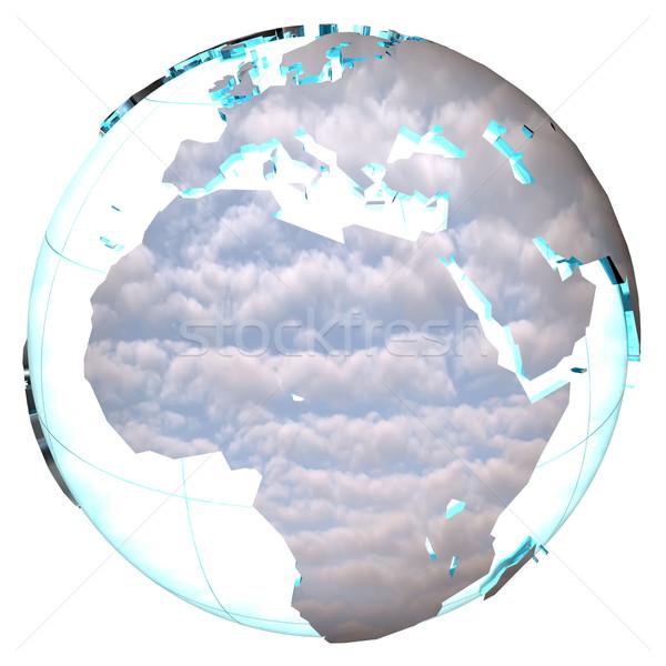 Terra céu ciência nuvem planeta ambiente Foto stock © njaj