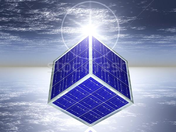 solar cell cube Stock photo © njaj