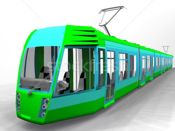 tram  on a white background Stock photo © njaj