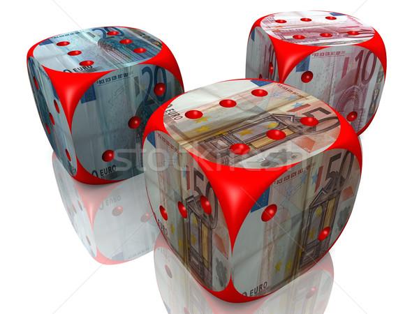 dice and euro Stock photo © njaj