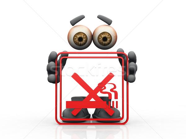 don't smoke symbol on a white background  Stock photo © njaj
