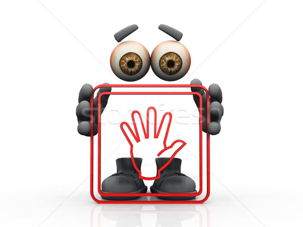 hand symbol on a white background  Stock photo © njaj