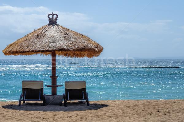 Bali stranden hemel zon landschap zomer Stockfoto © njaj