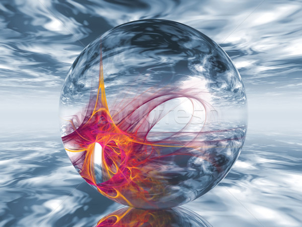 a  transparent ball containing shapes Stock photo © njaj