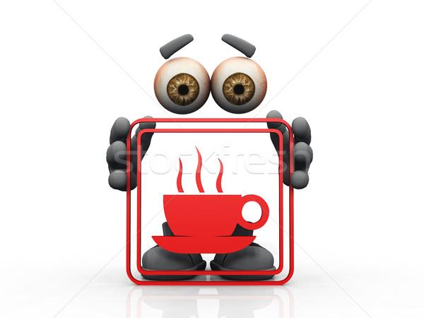 coffee symbol on a white background  Stock photo © njaj