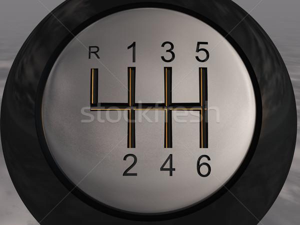 Artes palanca coche velocidad número conductor Foto stock © njaj