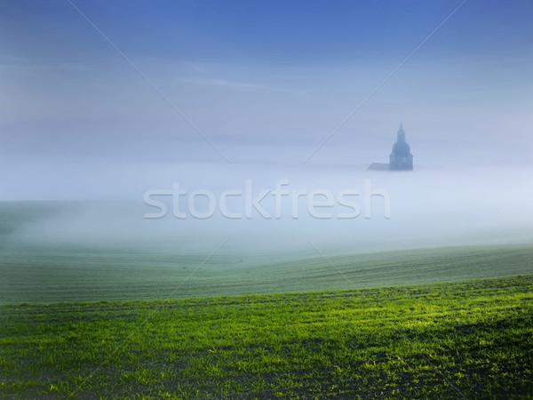 çan kule buğu doğa yaz mavi Stok fotoğraf © njaj