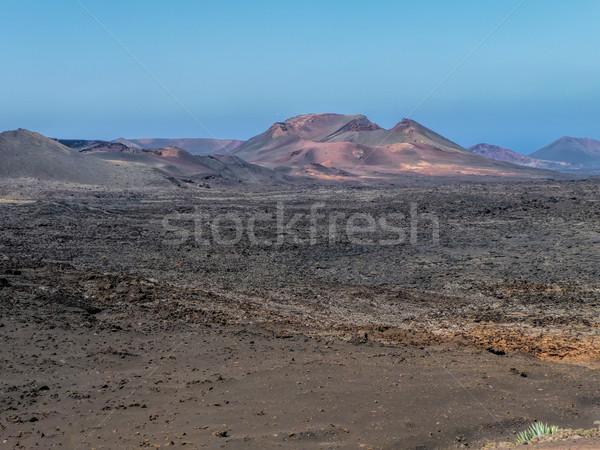 volcanic landscape of Lanzarote Stock photo © njaj