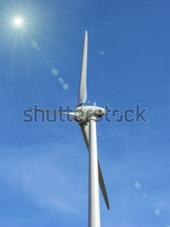the  wind turbine on blue sky Stock photo © njaj