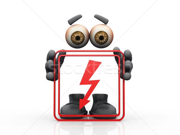 flash symbol on a white background  Stock photo © njaj