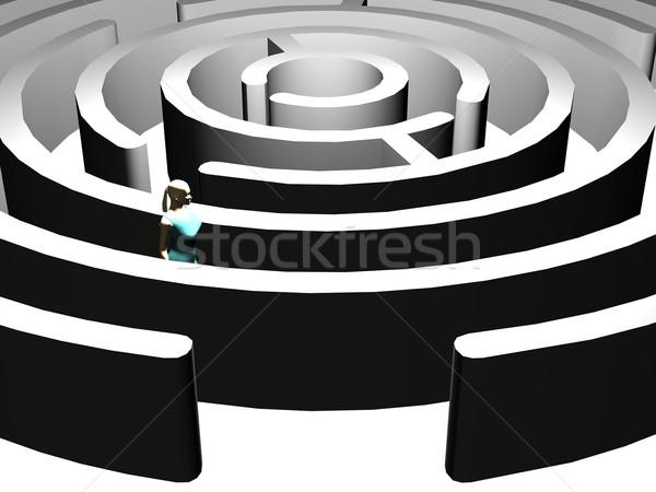 Women and the labyrinth Stock photo © njaj