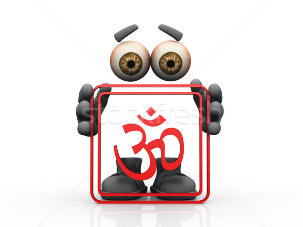 om symbol on a white background 