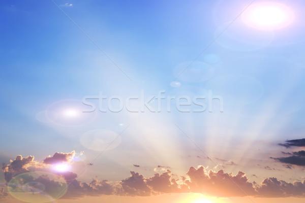 sky and clouds and light beams Stock photo © njaj
