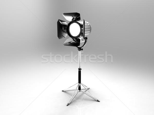 Stüdyo projektör gri televizyon film sinema Stok fotoğraf © njaj