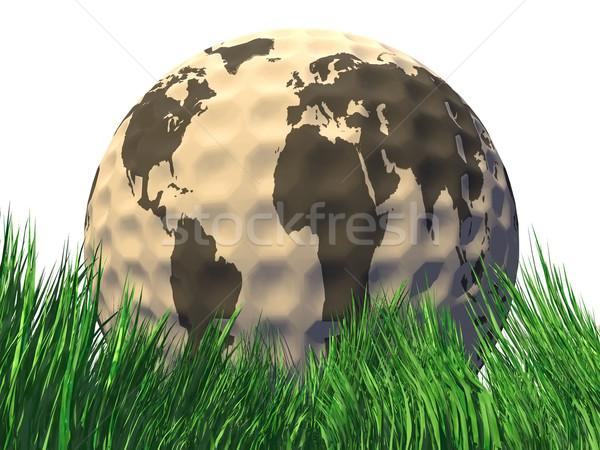 ストックフォト: ゴルフ · 地球 · 惑星 · ゴルフボール