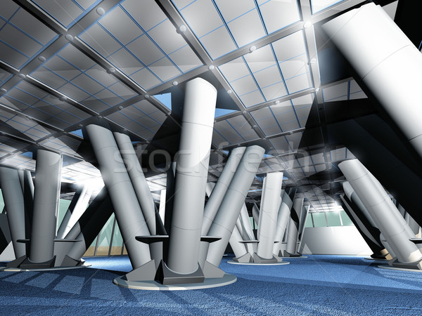 the  supporting pillars of a building Stock photo © njaj