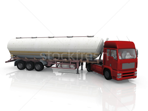 Camion blanche trafic tracteur transport rapide Photo stock © njaj