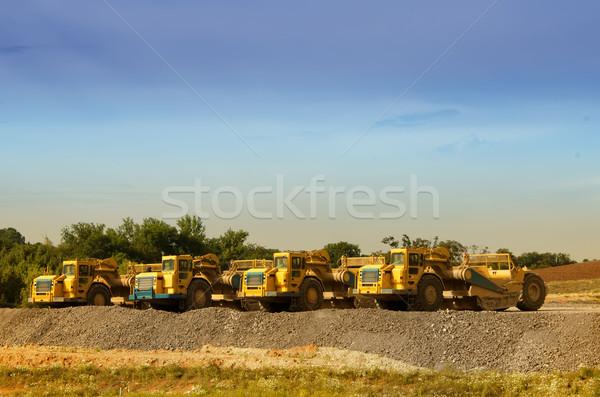 Inşaat makinalar yol Bina teknoloji sanayi Stok fotoğraf © njaj