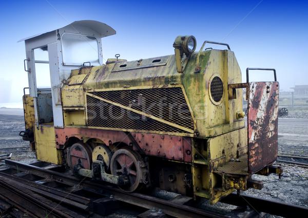 Locomotief werk metaal trein industrie industriële Stockfoto © njaj