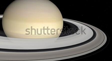 Saturn on a background of stars  Stock photo © njaj