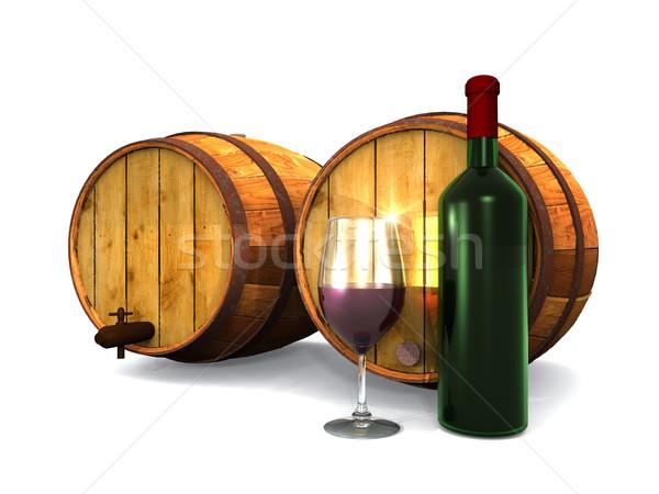 wine and barrels Stock photo © njaj