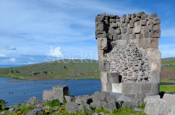 Peru tájkép kő vallásos ősi festői Stock fotó © njaj
