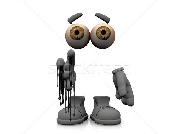 Onzichtbaar man walgelijk lichaam mannen mannelijke Stockfoto © njaj