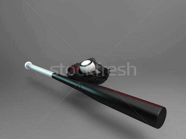 bat  and baseball glove Stock photo © njaj