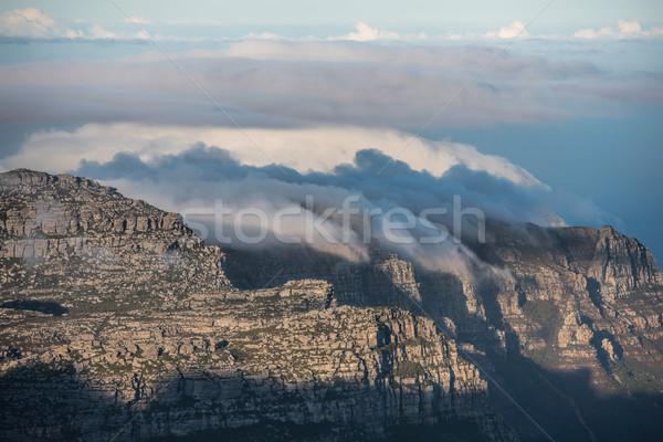 Cape Town Südafrika Stadt Berg Ozean Tabelle Stock foto © njaj