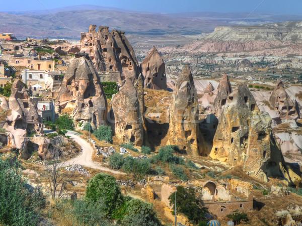 the  fairy chimneys in Cappadocia Stock photo © njaj