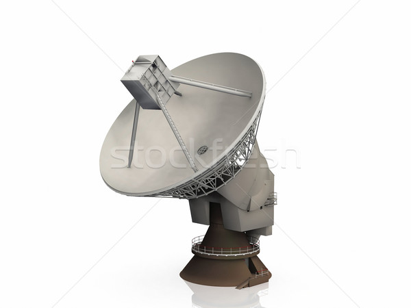 radio telescope on a white background Stock photo © njaj