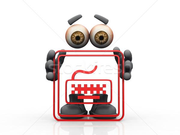 keyboard  logo and  invisible man  Stock photo © njaj