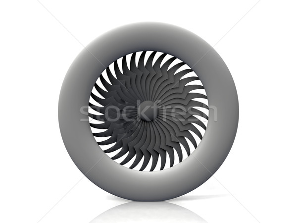 turbine propeller on a white background Stock photo © njaj