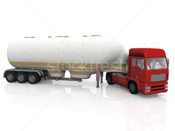 tanker truck on a white background Stock photo © njaj