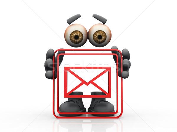 mail symbol on a white background  Stock photo © njaj