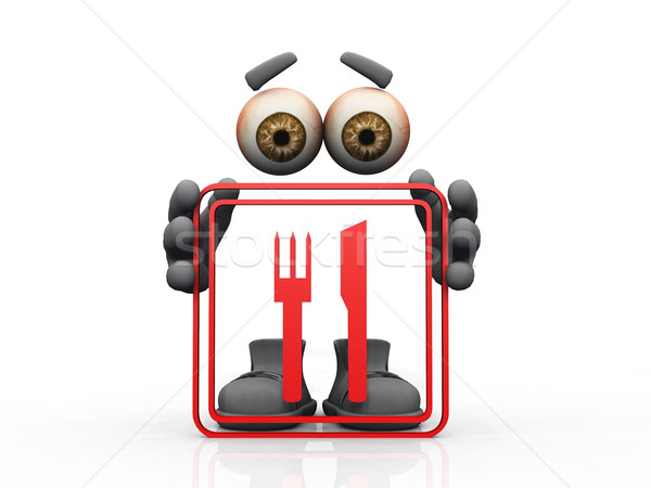 restaurant symbol on a white background  Stock photo © njaj
