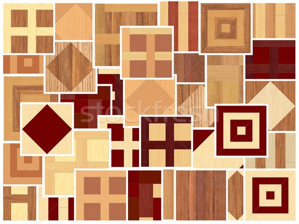 different  patterns of parquet wood Stock photo © njaj
