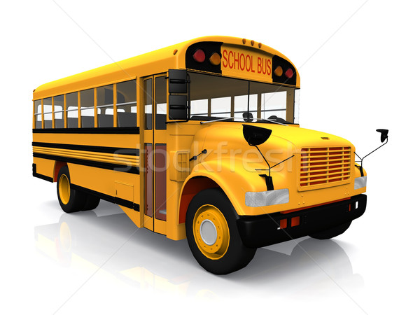 school  bus on a white background Stock photo © njaj