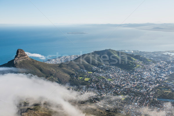 Cape Town South Africa stad berg oceaan tabel Stockfoto © njaj