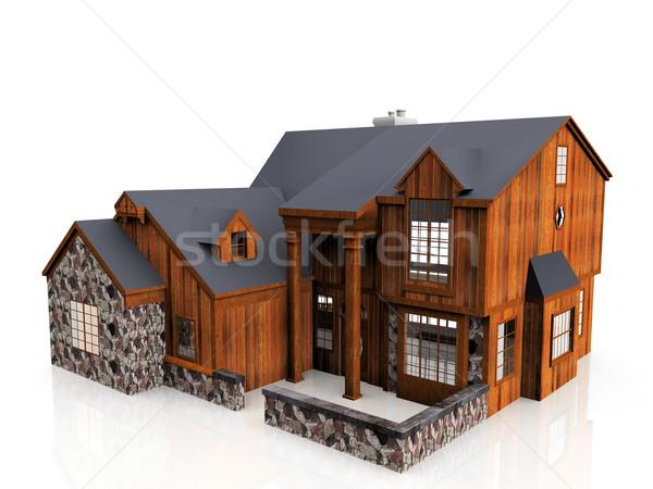 wooden house Stock photo © njaj