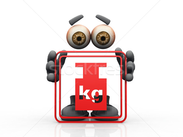 weight symbol on a white background  Stock photo © njaj