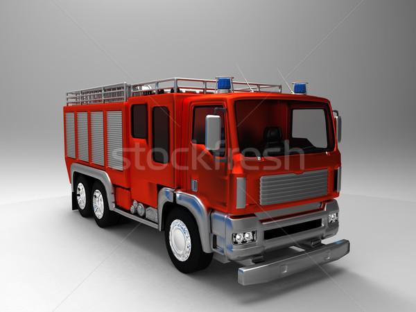 пожарная машина огня медицинской здоровья красный борьбе Сток-фото © njaj