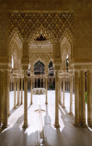 Foto stock: Alhambra · viajar · castelo · história · cultura · espanhol
