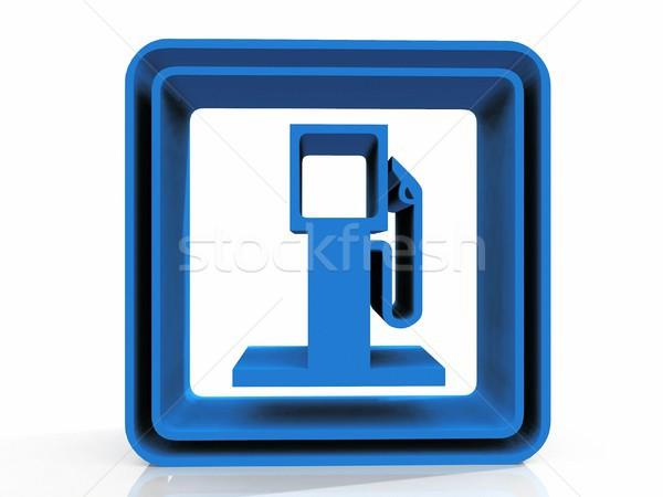 petrol station symbol on  white background Stock photo © njaj