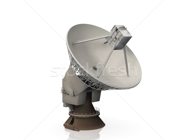 radio telescope on a white background Stock photo © njaj