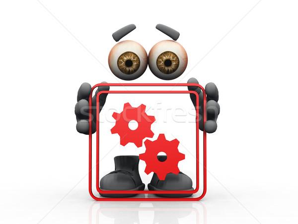 gear symbol on a white background  Stock photo © njaj
